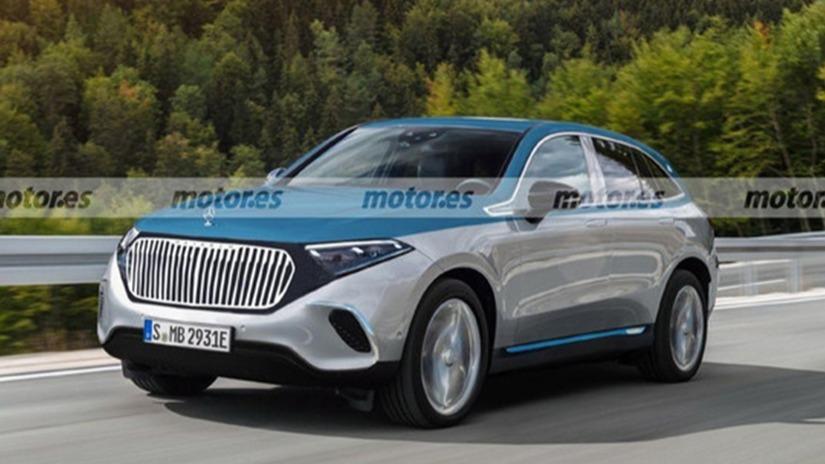 将2023年发布 迈巴赫EQS车型渲染图曝光