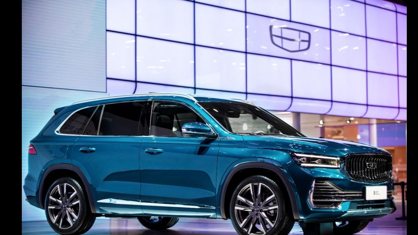 """吉利星越L智能化媲美""""特斯拉 """" 一台为颠覆而来的SUV 上海车展"""