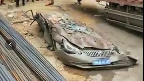 """""""纸片""""别克汽车惹争议,被几十吨钢筋砸到,这车质量差吗?"""