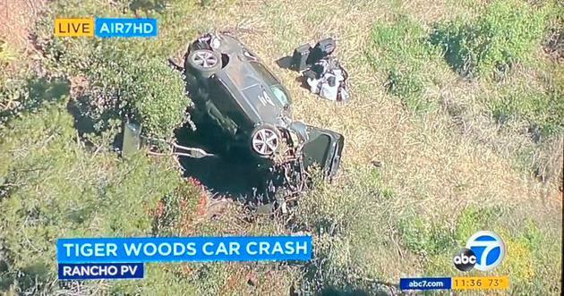 老虎 伍兹遭遇严重车祸 已送医院伤势不明